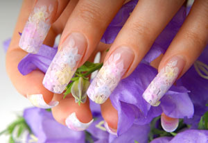 Nail Art für künstliche Fingernägel